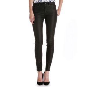 Joe Fresh Ultra Slim Low Rise Coated Black Jeans 8